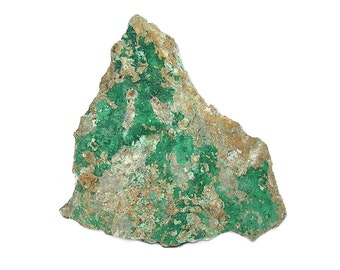 Cornubite and Clinoclase BIG in Rock Matrix, Rare Green Copper Minerals mined at Majuba Hill Nevada Geology Specimen Earth Science Gem stone