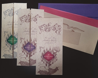 SAMPLE of Harry Potter Marauder's Map Stationery