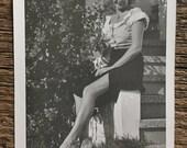 Original Vintage Photograph Marg Shows Leg