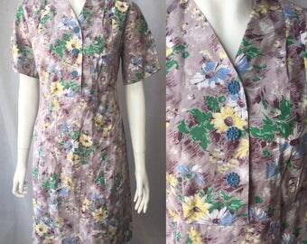 1940s house dress petite fit