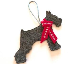 Miniature Schnauzer Dog Christmas Decoration, tree decoration,  decoration,