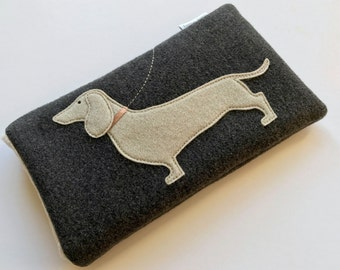 Dachshund Glasses Case spectacle case sun glasses case pouch