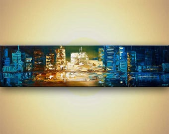 Canvas Art - Stretched, Embellished & Ready-to-Hang Print - Transparent Like Water - Art by Osnat