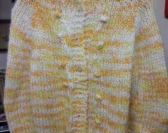 Vintage Wool Hand Knitted Women's Sweater Size - Medium