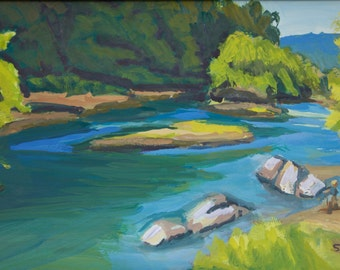 Summer Day at Greenwaters Park Original Painting