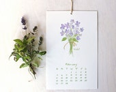 2017 Watercolor Calendar - Herbs and Edible Flowers