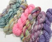 Pastel Passion - 6 Sock Skeins, 25 yds each, 150 yds total