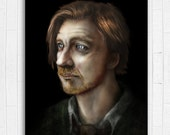 SALE **ONE AVAILABLE** Remus Lupin Painting 11x17in - Harry Potter - Fine Art Print from artist