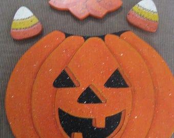Pumpkin, pumpkin outfit, seasonal, seasonal bear, welcome bear,  wall hanging, door hanging
