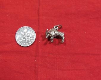 Vintage BULL Sterling Silver Charm