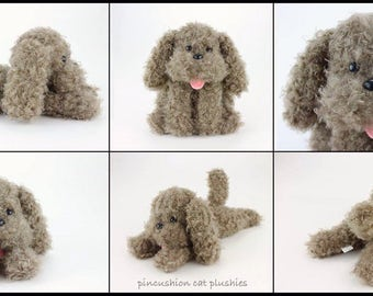 Makkachin beanie style plush - made to order