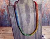 Beaded Rainbow Necklace
