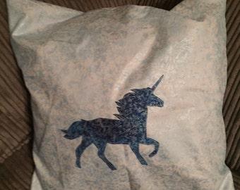 Custom colour Unicorn Pillow