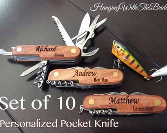 Personalized Knife, Fishing Knife, Hunting Knife, Engraved Knife, Pocket knife, Groomsmen Gift, Best Man Gift, Customize Groomsmen gift set