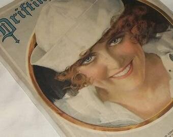 1920 Sheet Music, DRIFTING, Sailor Girl Image, Framable!
