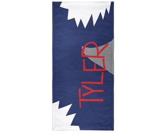 Shark Attack Personalized Beach Towel