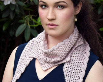 PDF knitting pattern - Jagged Little Scarf
