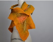 CHRISTMAS SALE Nuno Felted Scarf - Rustic Felted Scarf - Merino Wool Felted Scarf - Merino Wool Silk Scarf - Women's Accessories - Felted Sc