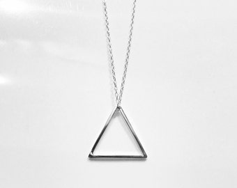 Sterling Silver Geometric Triangle/Mountain Necklace