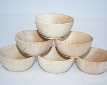 """30, 2- 1/2"""" Wooden Bowls- Kitchen Accessories, Toy Kitchen, Kids Woodn Toys, Jewlery Bowl, Pretend Play, Spice Bowl, Condiment Bowl"""