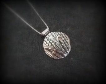 Fine silver organic pendant, Patience of nature, by RECREATE4U