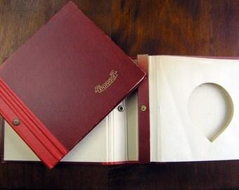 Vinyl 45 Record Cases, Set of 2 Vintage 1940s 1950s Polydor 45 Vinyl Record Books, Vinyl 45 Record Holders, Red Matching Vinyl Cases