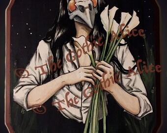 Funeral Lilies Digital Print
