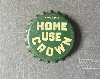 Home Use Crown Vintage Unused Bottle Caps 81 Caps Retro Green Cork Lined