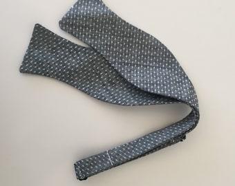 Men and Teen's Polka Dot Denim Chambray Bow Tie