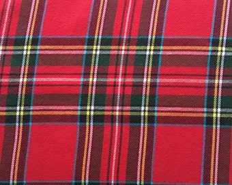 Robert Kaufman Red Christmas Plaid