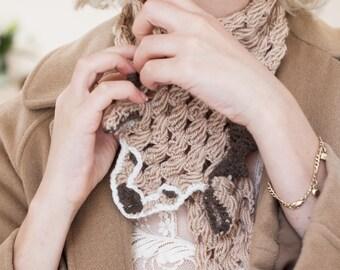 Deer Scarf, Animal Scarf, Cute Scarf, Crocheted Animal, Crochet Animal Scarf, Beige Scarf, Crocheted Collar, Children Scarf, Cool Scarf