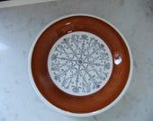 Vintage Swedish small plate - Pergola - Upsala Ekeby Gefle - Hand painted decor - One plate