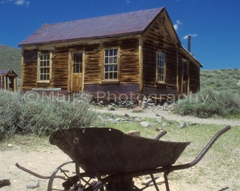 Weathered Wood California Historical Bodie Ghost Town, Original Photograph, Fine Art Photography matted, signed 5x7 Original Photograph