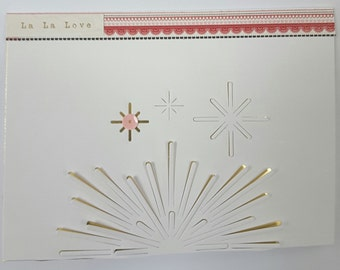 Ooak Love card with envelope for a lover or a friend