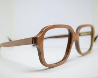 Vintage Woodwave Paris glasses (no lenses)