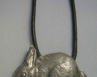 rabbit pendant amulet 925 sterling silver necklace charm
