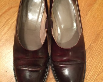 Dark brown oxblood vintage loafers oxfords