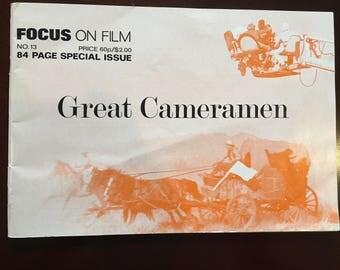Autographed magazine, Vilmos Zsigmond, Cinematographer in Focus on Film magazine, Great Cameramen