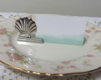 Place Card Holders 24 Silver Seashell Beach Wedding Placecard
