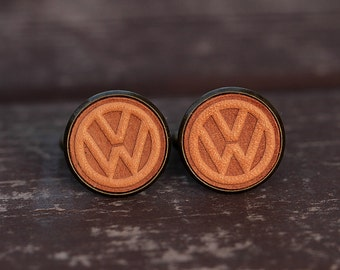 Men's cufflinks - Vintage Style Cufflinks- VW Volkswagen Cufflinks with a gift box