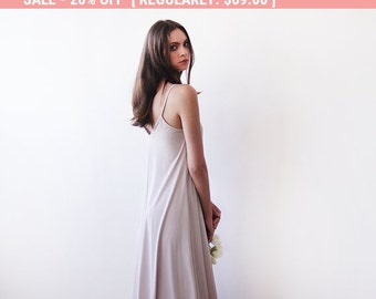 20% OFF Light champagne maxi straps dress , Maxi champagne basic lining dress 1026