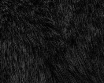 Fun Monkey Fur Black 60 Inches Fabric by the Yard, 1 yard