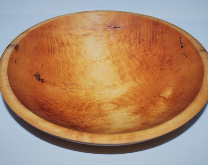 Vintage Wood Dough Bowl Solid Maple