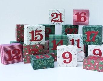 Advent Calendar Christmas Calendar Box Advent Calendar Christmas Countdown Advent Decoration Holiday Calendar Reuseable Calendar Keepsake