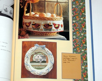 Country Cross-Stitch by Sharon Perna 1991 HardCover 40 Patterns