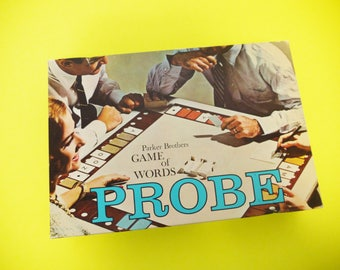 Vintage Probe Board Game Parker Brothers 1965 Game of Words