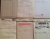 ON SALE Vintage Unused Receipt Sampler Grocery Store Farm General Store Dairy