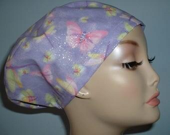 Dragonfly Bees Lavender Euro European OR Scrub Hat