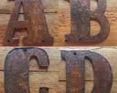 "RUSTED Metal Letters - Make your own Sign, Gift, Art! Nearly 6"" High"