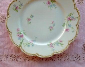 Antique Floral Limoges Plate